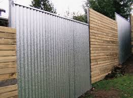 corrugated metal fence. Unique Fence Corrugated Metal Fencing Ideas 20 Cheap Privacy Fence  Throughout