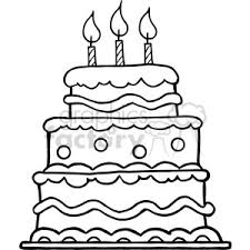 birthday cake clip art black and white.  White Blackwhitebirthdaycake Throughout Birthday Cake Clip Art Black And White H