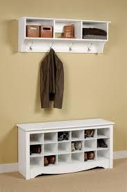 Coat Rack Storage Unit 100 PC White Shoe Cubbie Bench Wall Storage Unit Coat Rack Cabinet 4