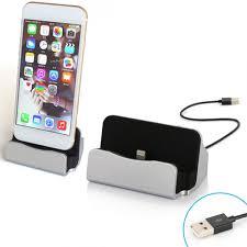 charging sync station dock desk holder stand for iphone samsung
