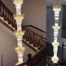 stairs crystal font b chandeliers b font villa long font b chandelier b font luxury duplex