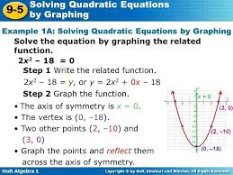solving quadratics by graphing example solving quadratic equations by graphing solving quadratic equations