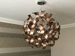 Copper Ribbon Light Large Brushed Copper Ribbon 9 Light Ceiling Pendant Bronze Gold Brown In Larbert Falkirk Gumtree