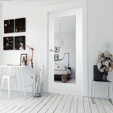white primed shaker 1 light clear glass internal door