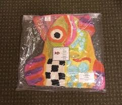 new mackenzie childs hy fish bath rug 20 x 36 retired 87 99
