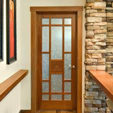 wood interior door with glass