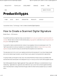 how to create online signature electronic signature from your scanned digital signature