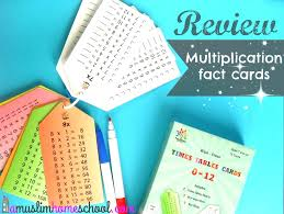 a muslim homeschool: Multiplication facts.....sorted!