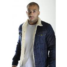 sel denim jacket elshar fur lined