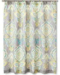 gray and blue shower curtain. anila shower curtain - gray/aqua/yellow (gray/blue/yellow) gray and blue