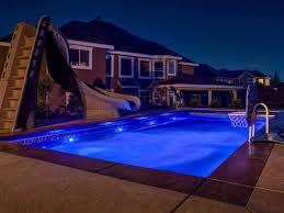 latham pool fiberglass pool options and designs led