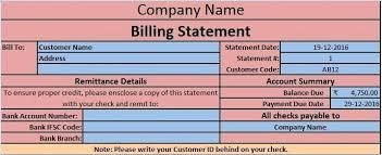 Screen Shot Billing Statement Template Customer Statement