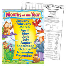 Months Of The Year Learning Chart