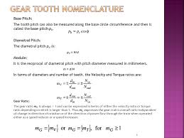 8 gear tooth nomenclature