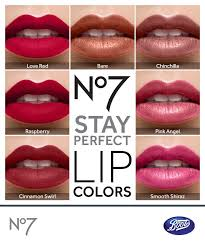 No7 Lipstick Colour Chart Dress Your Lips With No7 Stay Perfect For Intense Long