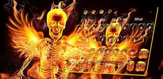 Flaming <b>Wings Skull</b> keyboard - Google Play-ko aplikazioak