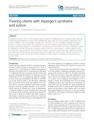 Pdf Treating Clients With Aspergers Syndrome And Autism