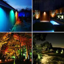 Outdoor Landscape Lighting Covoart Color Changing Led Landscape Lights 12w Landscape Lighting Ip66 Waterproof Led Garden Pathway Lights Walls Trees Outdoor Spotlights With Spike
