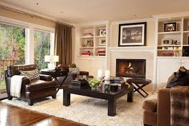 cozy living furniture. The Built-in Shelves On Either Side Of The Fireplace Are Filled With Books  And Cozy Living Furniture