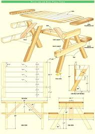 wooden picnic table plans minure dult s wh ttched instructions round wood pdf