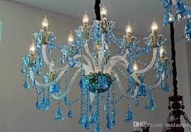 regron modern chandelier lamp blue led crystal chandelier lights rustic natural french style ceiling re for living room cottage use swag chandelier twig
