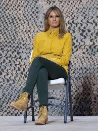 Желтый жакет и классические <b>ботинки</b> Timberland: Мелания ...
