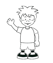 Outline Of A Boy And Girl Coloring Pages Cartoon Girl Coloring Pages