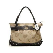 Coach Waverly Stud In Signature Large Khaki Satchels DOA