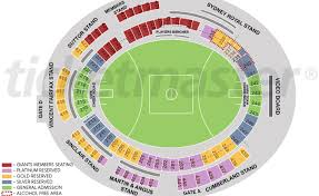Giants Stadium Football Seating Chart Sydney Showground Stadium Seating Map Austadiums