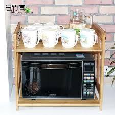 microwave shelf cabinet bamboo microwave shelf 4 shelf cabinet storage rack oven rack wood floor microwave microwave shelf cabinet