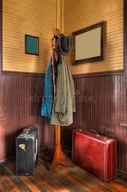 Train Coat Rack Train Station Coat Rack Luggage In Corner Stock Photo Image of 59
