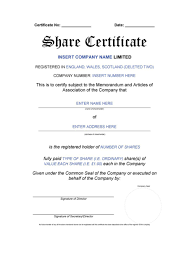 40 stock certificate templates word pdf template lab stock certificate template 40