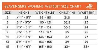 Seavenger Wetsuit Size Chart 32 Amazon Com Seavenger 3mm Neoprene Full Wetsuit With