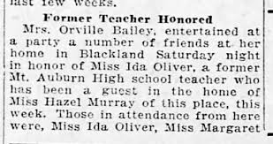 Miss Ida Oliver honored, 10apr1923pg5 - Newspapers.com