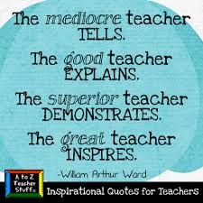 Quotes For Teachers New Quotes For Teachers The Great Teacher Inspires A To Z Teacher