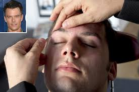 Gay men get their eyebrow wax