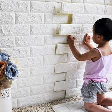 Decorative Foam Tiles 6060cm Waterproof 60D Wall Sticker Safety PE Foam Decorative Wall 6