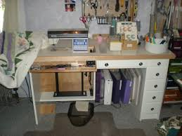 Desk With Built In Sewing Machine