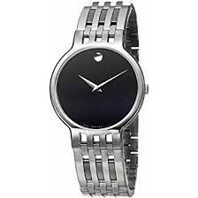 amazon com movado men s 606071 esperanza stainless steel bracelet movado men s 606071 esperanza stainless steel bracelet black dial watch