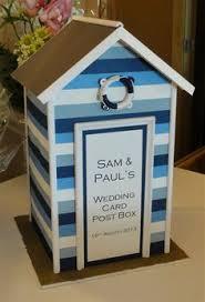 beach hut' wedding post box ebay wedding favours & decor Wedding Card Box Ideas Beach Theme beach hut wedding post box post box wedding card box beach theme