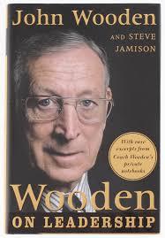 john wooden steve jamison signed wooden on leadership hardcover book psa coa