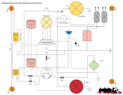simplified kick only motorcycle wiring diagram
