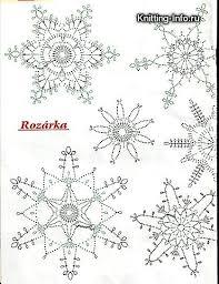 Crochet Snowflake Pattern Chart Crochet Patterns Christmas Crocheted Snowflakes Crochet