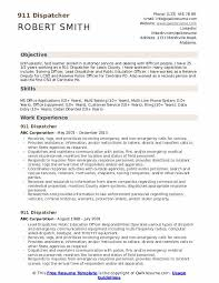 Dispatcher Resume Samples 911 Dispatcher Resume Samples Qwikresume