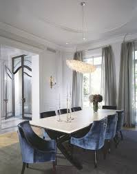 mid century modern dining room chandelier dining room transitional with ceiling detail crown molding sheer curtains