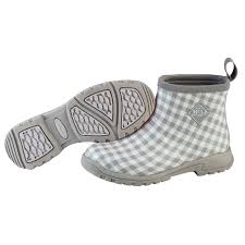 details about muck boots breezy ankle insulated rain boot for las women s gray gingham