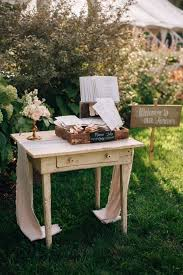 outdoor wedding furniture. French Industrial Wedding Ideas | White Floral Arrangements, Table And Guestbook Outdoor Furniture R