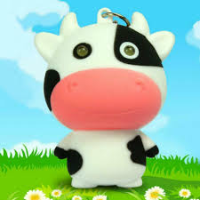 Led Cow Keychain W Light Sound Cute Toy Animal Moo Noise Wholesale