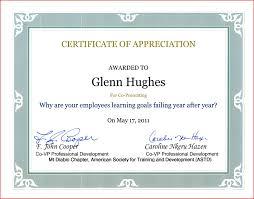 Certificate Recognition Wording Appreciation Certificates Elegant