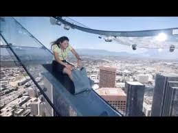los angeles glass slide opens 1 000ft up skyser